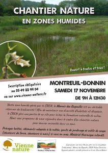 Chantier nature en zones humides @ Montreuil-Bonnin