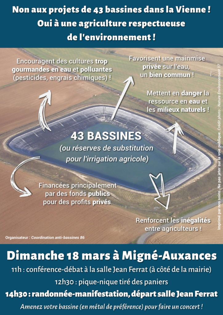 Manifestation contre les bassines @ Migné-Auxances